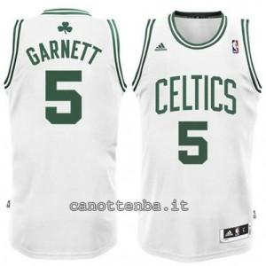 canotte #5 kevin garnett boston celtics revolution 30 bianca