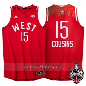 canotte DeMarcus cousins #15 nba all star 2016 rosso