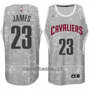 canotte LeBron james #23 cleveland cavaliers lights grigio