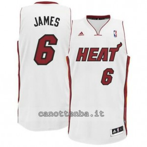 canotte LeBron james #6 miami heat revolution 30 bianca