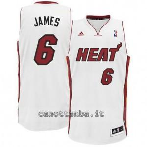 canotte LeBron james #6 miami heat revolution 30 bianca