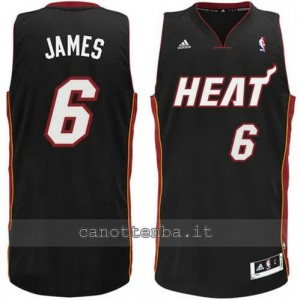 canotte LeBron james #6 miami heat revolution 30 nero