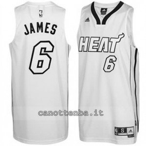 canotte LeBron james #6 miami heat whiteout