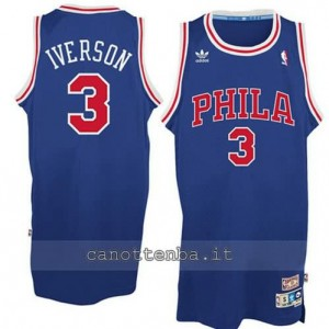 canotte allen iverson #3 philadelphia 76ers blu