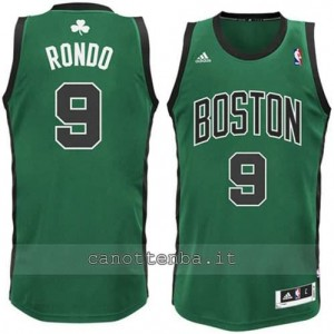 canotte alternato rajon rondo #9 boston celtics verde
