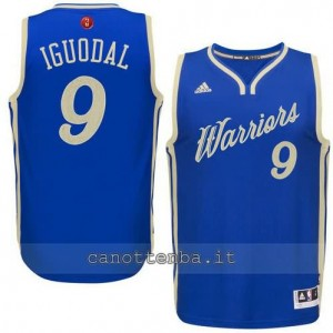 canotte andre iguodala #9 golden state warriors natale 2015 blu