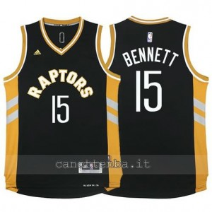 canotte anthony bennett #15 toronto raptors 2015-2016 nero