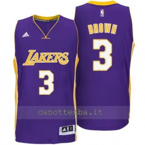 canotte anthony brown #3 los angeles lakers 2014-2015 porpora