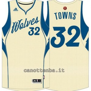 canotte anthony towns #32 minnesota timberwolves natale 2015 giallo