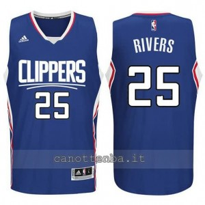 canotte austin rivers #25 los angeles clippers 2015-2016 blu