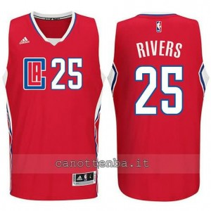 canotte austin rivers #25 los angeles clippers 2015-2016 rosso