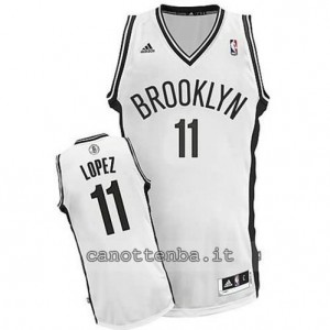 canotte brook lopez #11 brooklyn nets revolution 30 bianca
