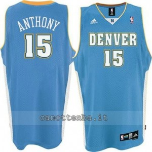canotte carmelo anthony #15 denver nuggets blu