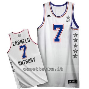 canotte carmelo anthony #7 nba all star 2015 bianca