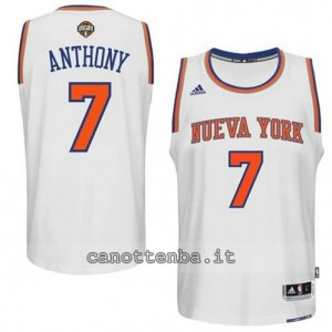 canotte carmelo anthony #7 new york knicks 2014-2015 bianca