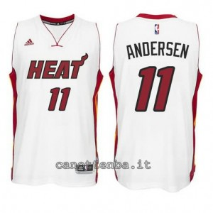 canotte chris andersen #11 miami heat 2014-2015 bianca