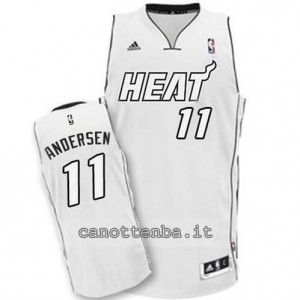 canotte chris andersen #11 miami heat whiteout