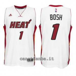 canotte chris bosh #1 miami heat 2014-2015 bianca