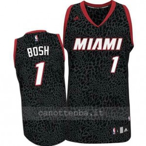 canotte chris bosh #1 miami heat leopardo