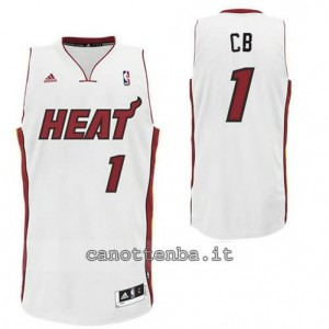 canotte chris bosh #1 miami heat revolution 30 bianca