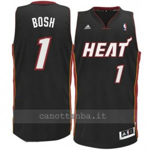 canotte chris bosh #1 miami heat revolution 30 nero
