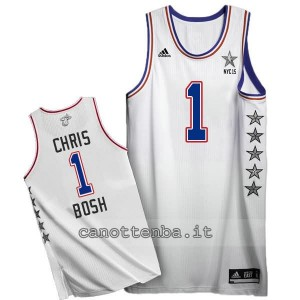 canotte chris bosh #1 nba all star 2015 bianca