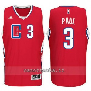 canotte chris paul #3 los angeles clippers 2015-2016 rosso