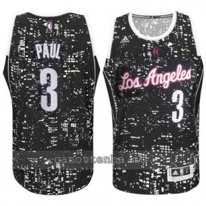 canotte chris paul #3 los angeles clippers lights nero