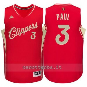 canotte chris paul #3 los angeles clippers natale 2015 rosso