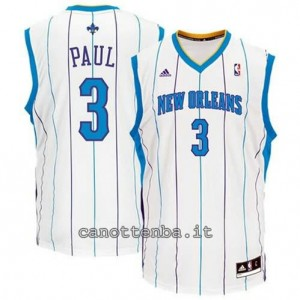 canotte chris paul #3 new orleans hornets revolution 30 bianca