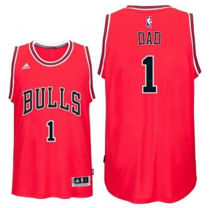 canotte dad logo 1 chicago bulls 2016 rosso