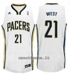 canotte david west #21 indiana pacers revolution 30 bianca