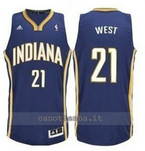 canotte david west #21 indiana pacers revolution 30 blu