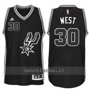 canotte david west #30 san antonio spurs 2015-2016 nero