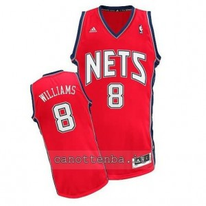 canotte deron williams #8 brooklyn nets retro rosso