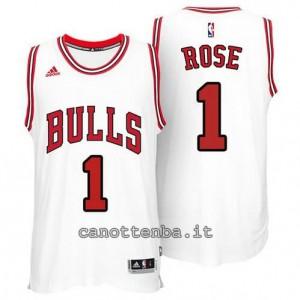 canotte derrick rose #1 chicago bulls 2014-2015 bianca