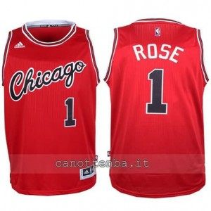 canotte derrick rose #1 chicago bulls 2015-2016 rosso