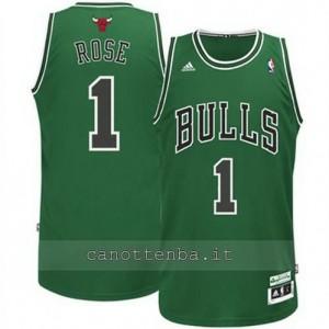 canotte derrick rose #1 chicago bulls moda verde