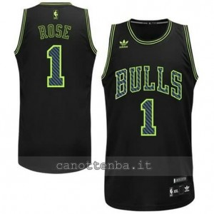 canotte derrick rose #1 chicago bulls revolution 30 nero