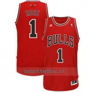 canotte derrick rose #1 chicago bulls revolution 30 rosso
