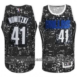 canotte dirk nowitzki #41 dallas mavericks lights nero