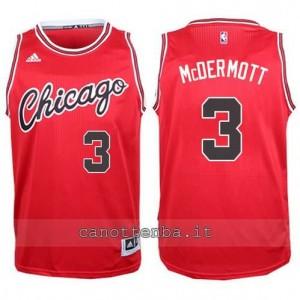 canotte doug mcdermott #3 chicago bulls 2015-2016 rosso