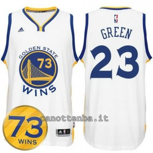 canotte draymond green #23 golden state warriors 73 wins 2016 bianca