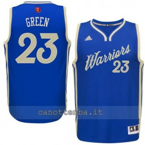 canotte draymond green #23 golden state warriors natale 2015 blu