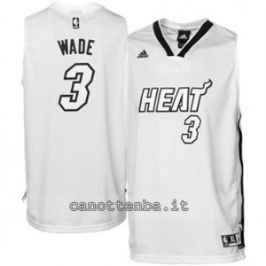 canotte dwyane wade #3 miami heat whiteout