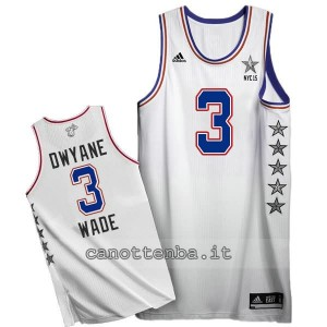 canotte dwyane wade #3 nba all star 2015 bianca