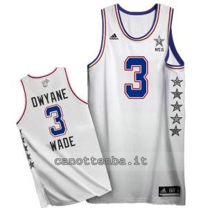 canotte dwyane wade #3 nba all star 2015 bianca
