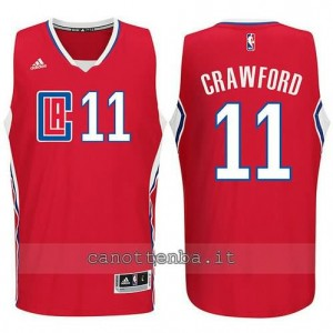 canotte jamal crawford #11 los angeles clippers 2015-2016 rosso