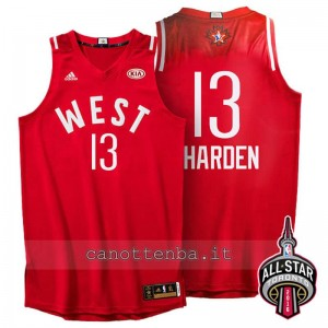 canotte james harden #13 nba all star 2016 rosso
