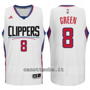 canotte jeff green #8 los angeles clippers 2015-2016 bianca